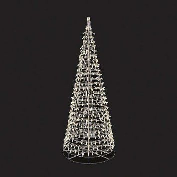 amazoncom new 5 foot led spiral cone twinkle christmas tree white lights in - Led Spiral Christmas Tree