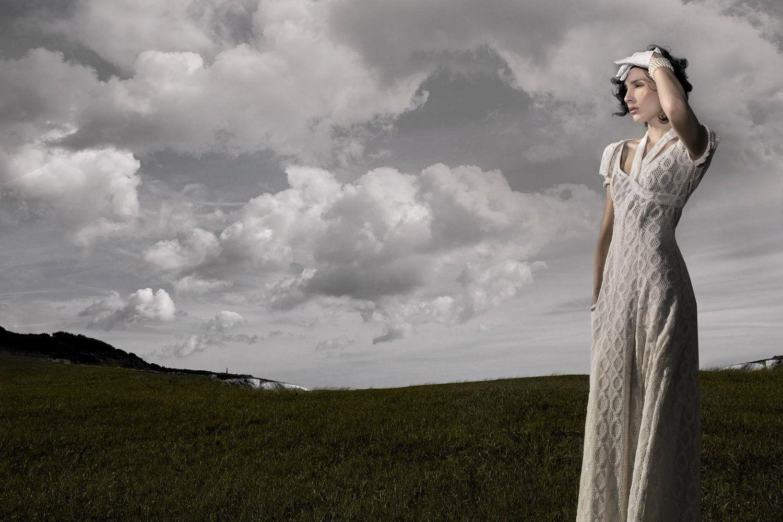 Timeless romantic wedding dress by sandrachagen on etsy