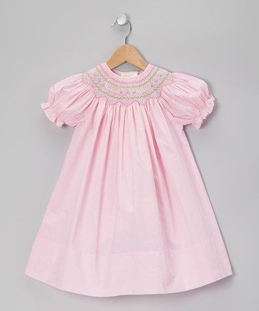 Take a look at this Pink Gingham Sadie Bishop Dress - Toddler by Rosalina on #zulily today!