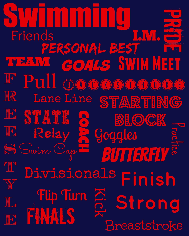 Swimming Subway Art Free Printable Subway Art Swimming Swim Team Gifts