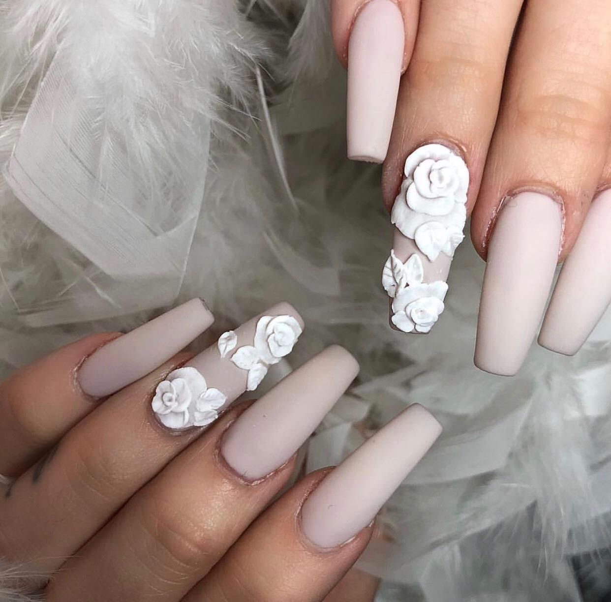 Acrylic Gel Fill 30 3d Flowers Start At 15 Manicure And Pedicure Manicure Pedicure Nail Art