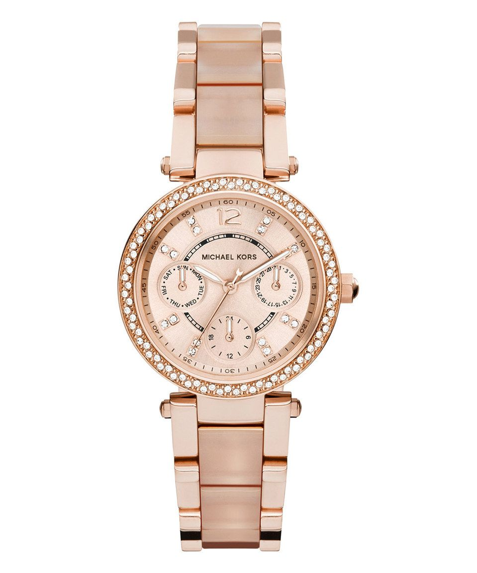 Another great find on #zulily! Michael Kors Rose Goldtone Parker Chronograph Watch by Michael Kors #zulilyfinds