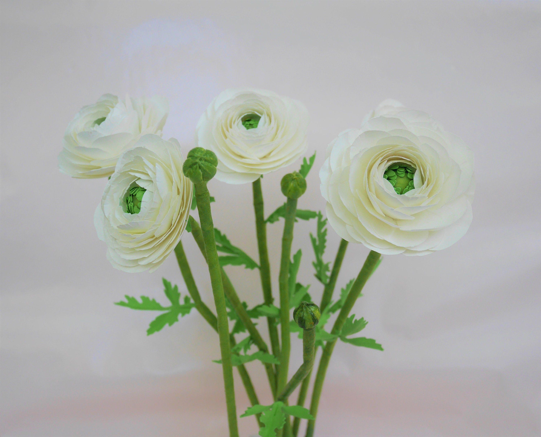 For Commercial Use Ranunculus Paper Flower Templates Video Tutorial Svg Pdf Diy 3d Flowers Wedding Decor Bouquet