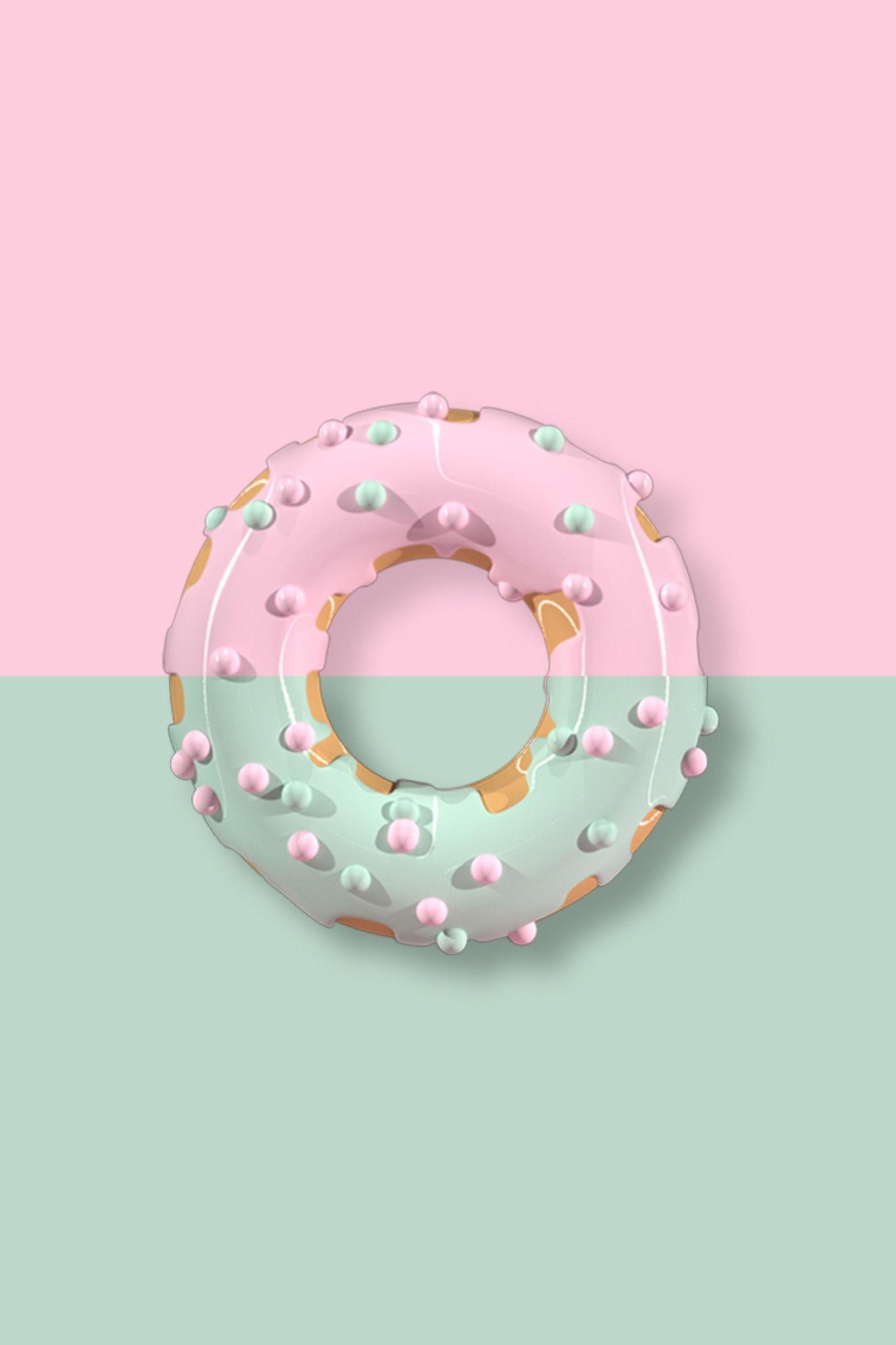 Donut Pink Wallpaper Iphone Wallpaper Iphone Cute Flower Phone Wallpaper
