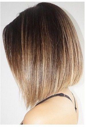 Schlichter Bob Mit Zartem Farbverlauf Haarschnitt Frisuren Haare