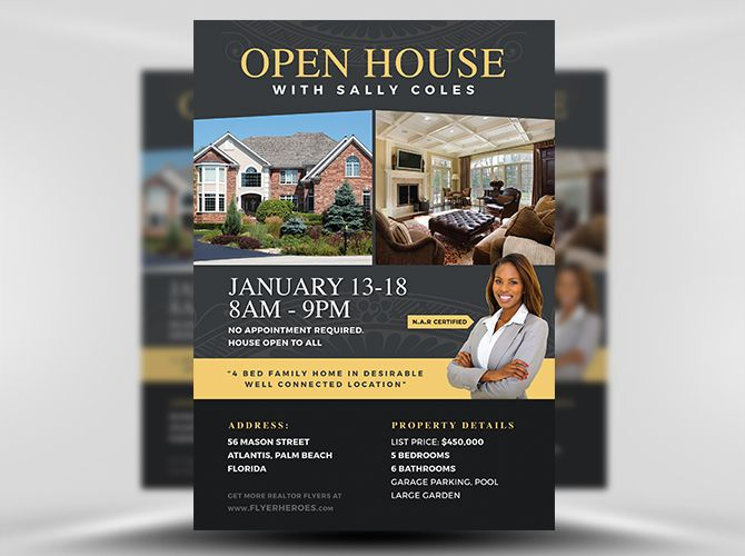 Open House Flyer Template  Fh   Design    Flyer Template