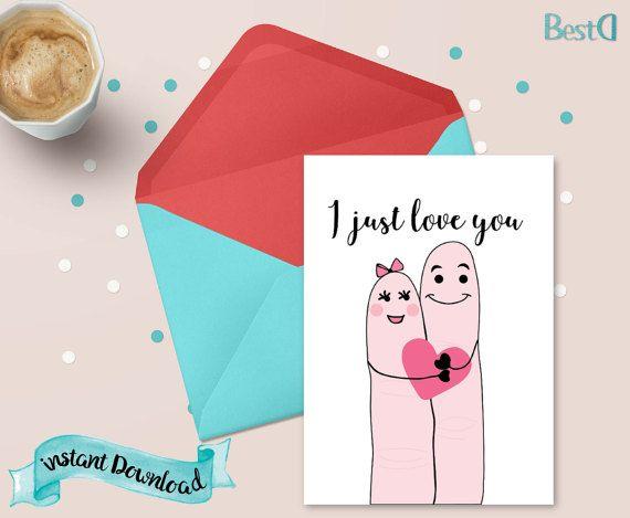 Funny valentine cardlove cardInstant by BestDesignland on Etsy