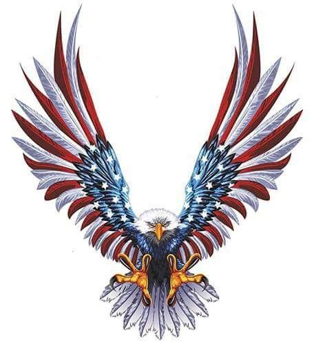 Red White Blue We The People American Flag Decal Eagle