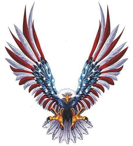 Red White Blue Americana American Flag Decal Tattoos Flag