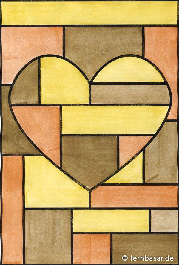 geometrische formen mit nur drei farben kunst malen. Black Bedroom Furniture Sets. Home Design Ideas