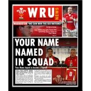 Wales Rugby Personalised Newspaper Wales Rugby Personalized Football Gifts Gifts For Football Fans