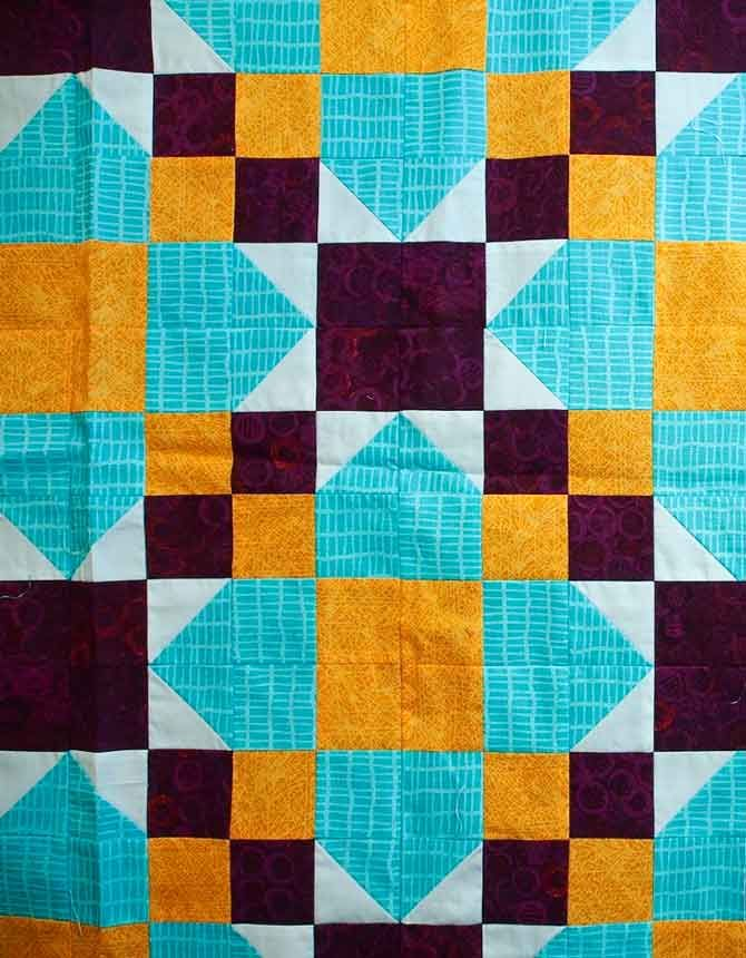 Triangles and triads in quilting | Tertiary color and Triangles : quilt colors schemes - Adamdwight.com