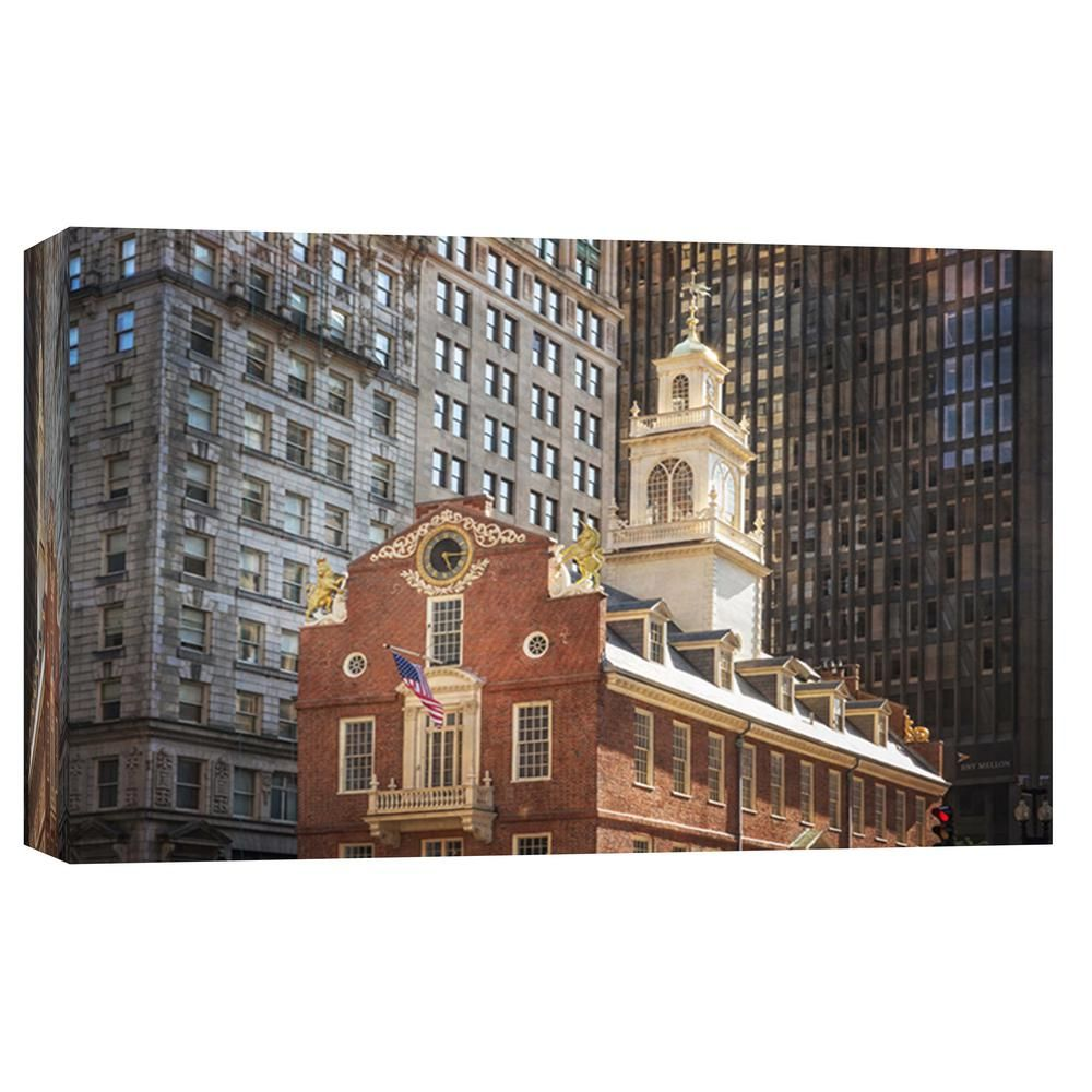 PTM Images 10 in. x 12 in. ''Old and New Architecture Boston '' Printed Canvas Wall Art 9-102765 - The Home Depot