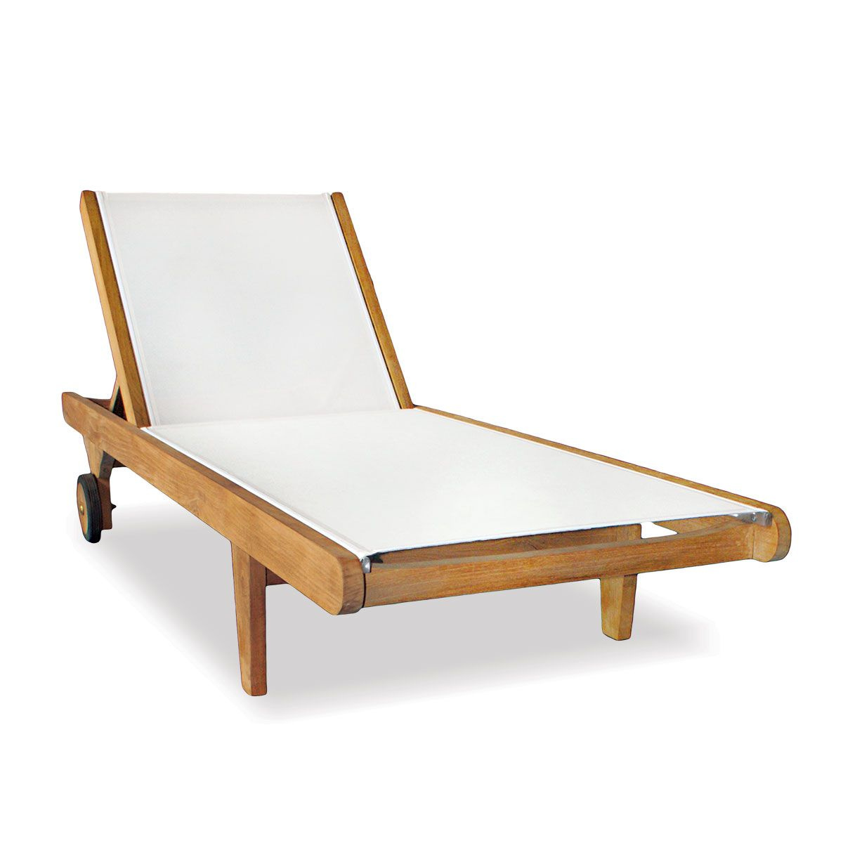 Teak Chaise Lounge Chairs Teak Chaise Lounge With Outdoor Sling Seneca Collection For