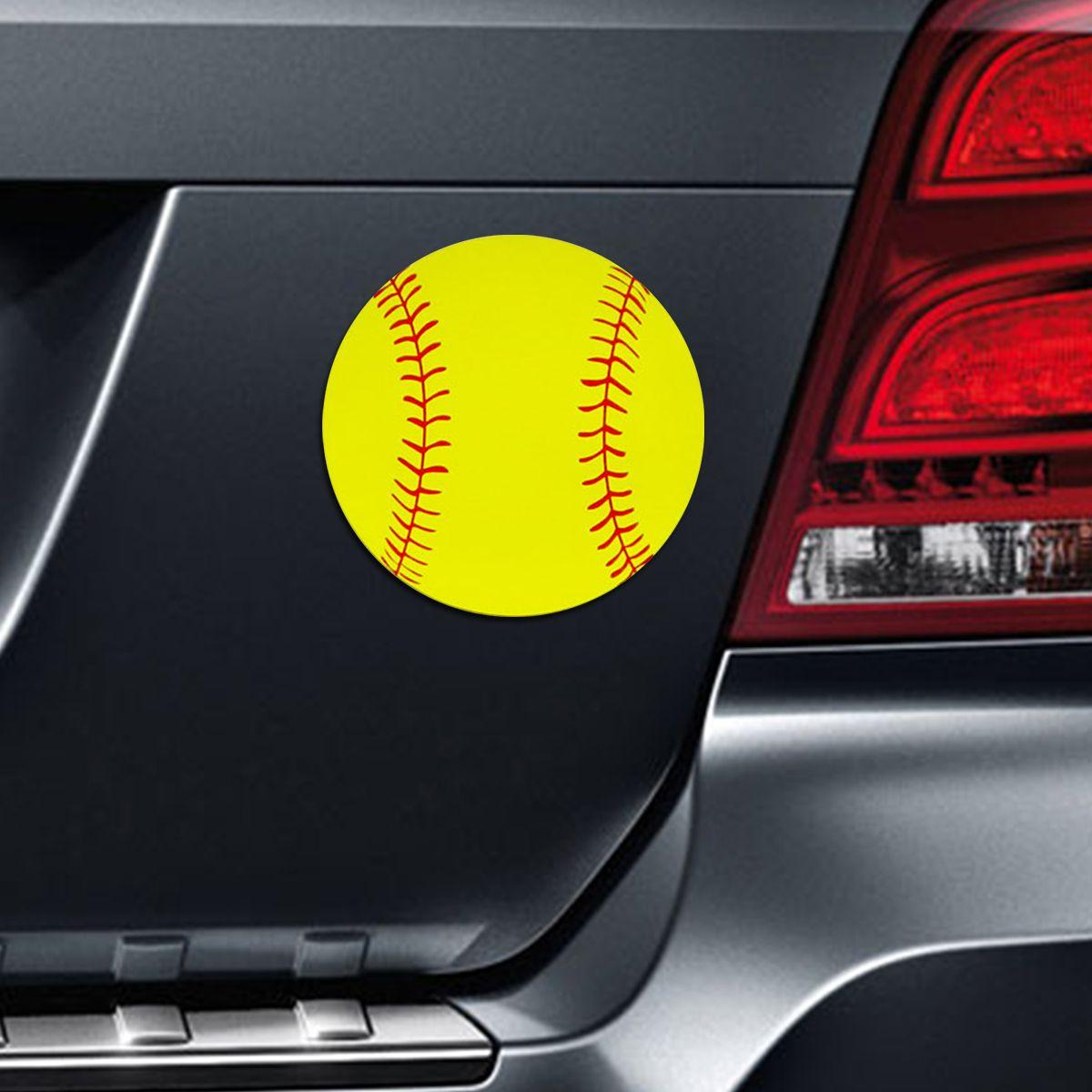 Softball Printed Car Softball catcher, Softball