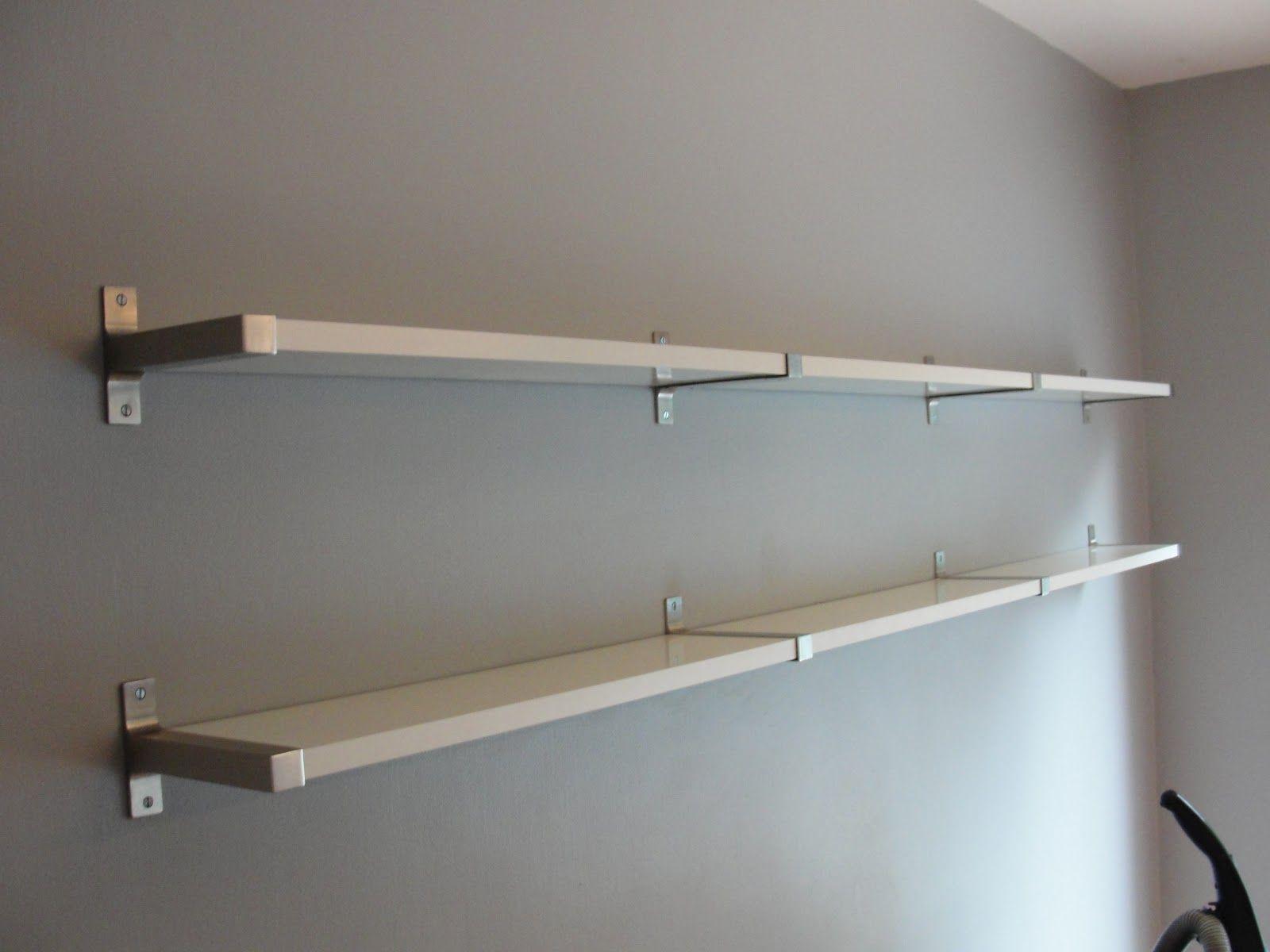 Furniture Design, Inspiring Cubicle Shelf Brackets With Gray Wall ...
