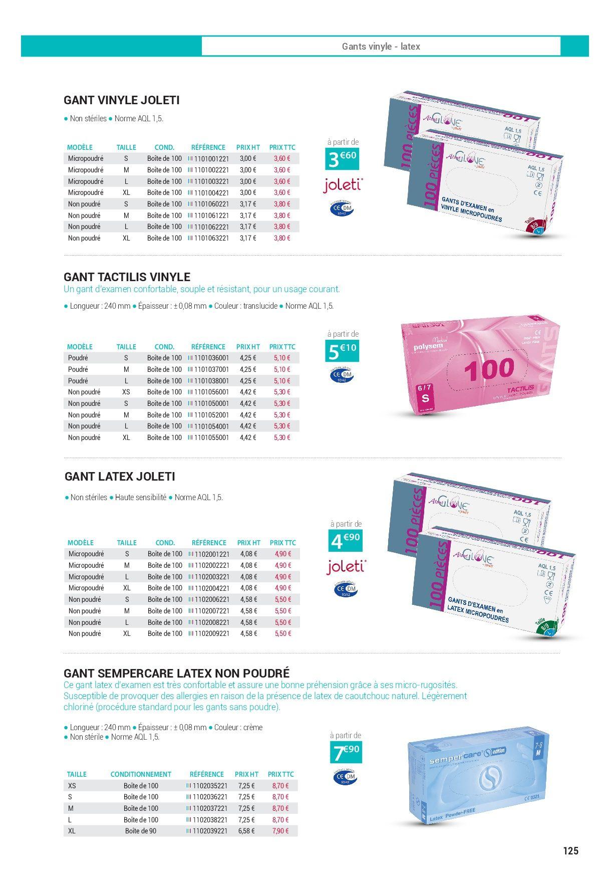 Catalogue matériel médical professionnels 2017 - Page 125. Retrouvez la meilleure offre de matériel médical : vente et location pour professionnels.