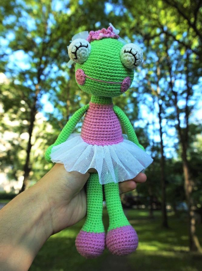 Free ballerina frog amigurumi crochet pattern | Crochet | Pinterest ...