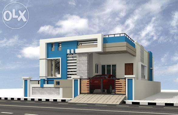 Front Elevation Single House Small House Elevation Design Flat Roof House Designs House Roof Design
