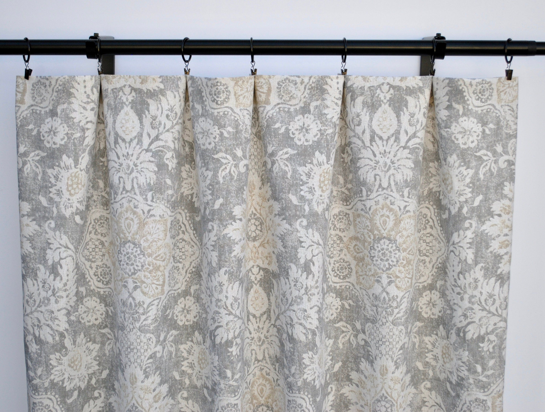 Magnolia Curtains Floral Beige Curtain 2 Curtain Panels
