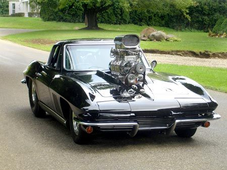 1965 Corvette    Is this the largest blower you've seen a 65