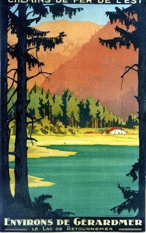 Lake Tahoe California Sierra Nevada Travel Tourism Vintage Poster Repro FREE SH