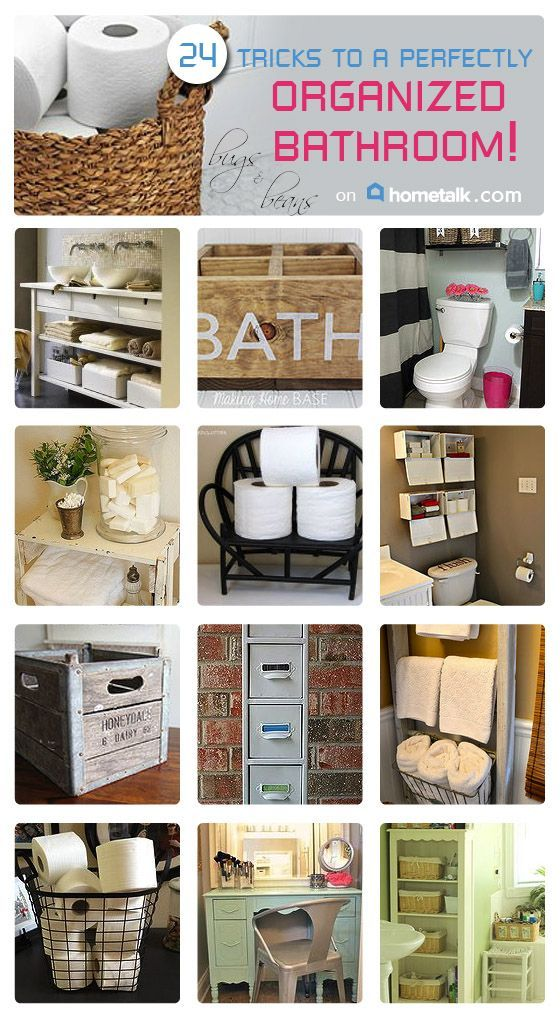 After seeing these 24 organization tricks, there are no more excuses for my cluttered bathroom! Really great ideas!
