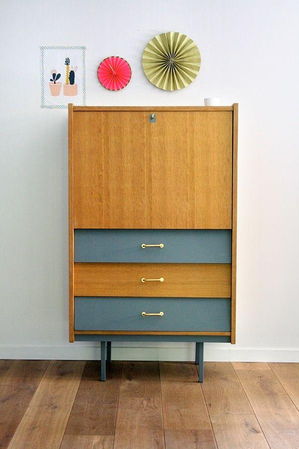 secr taire l on r nov et relook par les jolis meubles. Black Bedroom Furniture Sets. Home Design Ideas
