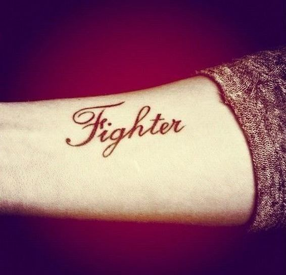 I Ve Had Some Close Calls In Life And I Feel That This Is A Great Tattoo To Support It Would Look Good On Inner B Word Tattoos One Word Tattoos Fighter