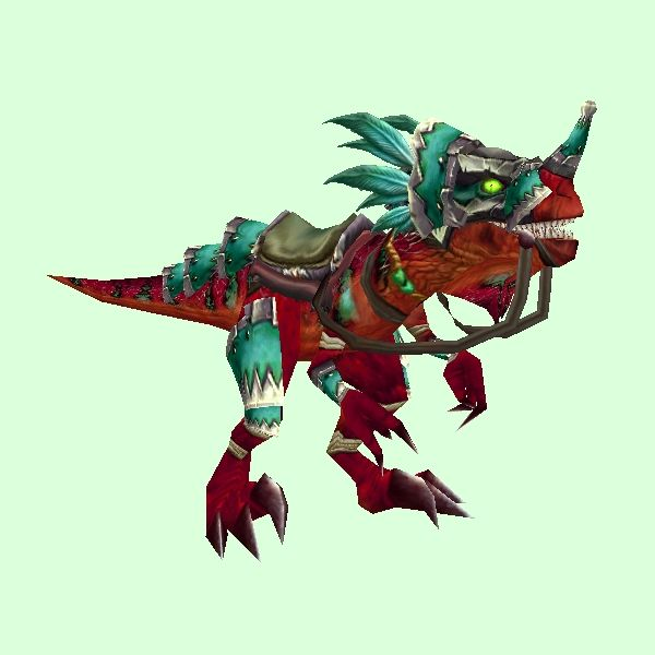 Armored Red Raptor World Of Warcraft Raptor Armor