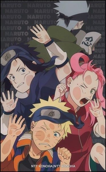 Team 7 Tumblr Naruto Sasuke Sakura Anime Naruto Wallpaper