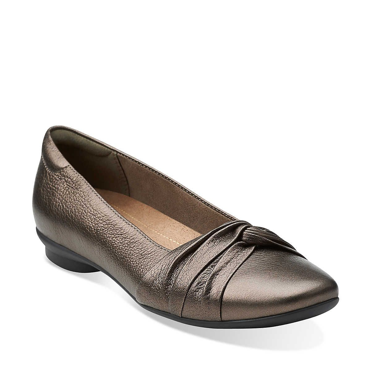 Candra Gleam in Bronze Leather - Womens Shoes from Clarks