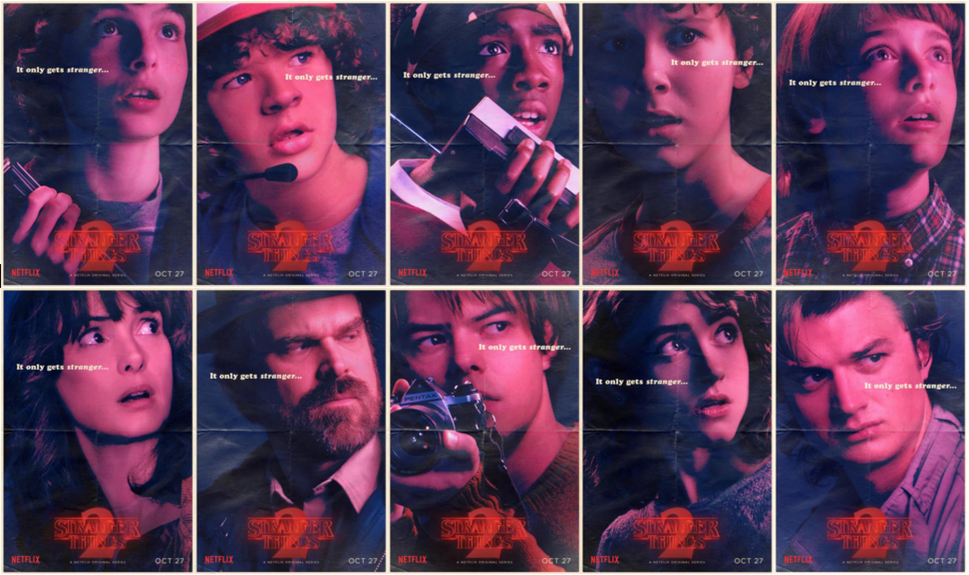 Stranger Things' Season 2 Character Posters: Returning Cast