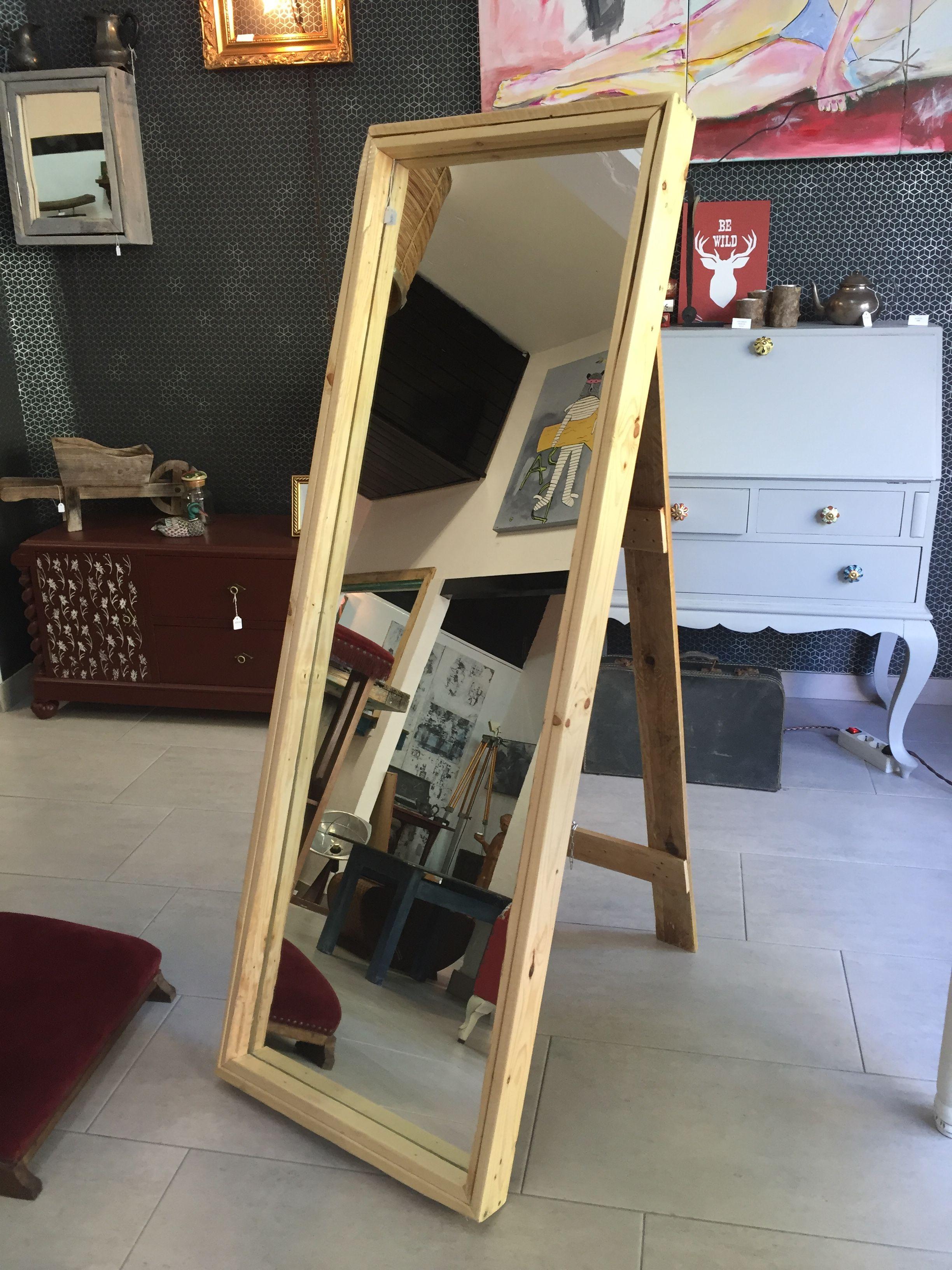 Espejo de pie con madera de palé. #vintage #retro #robinwood ...