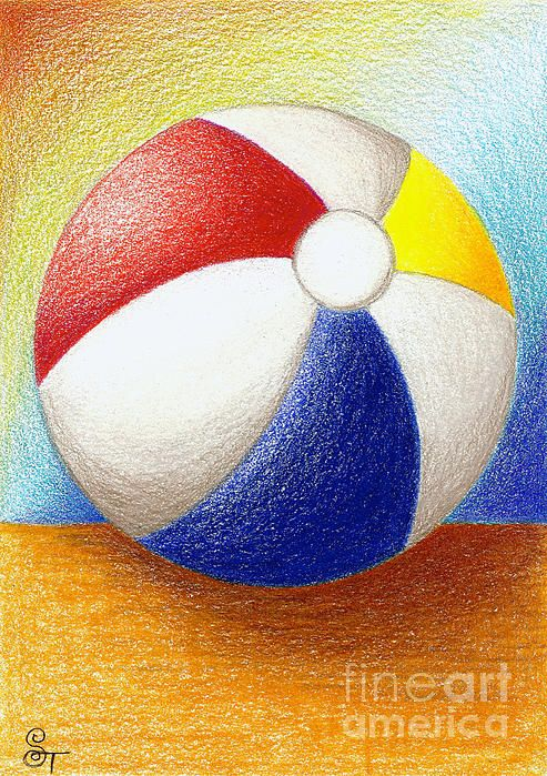 Beach Ball Drawing | Ball drawing, Colorful drawings