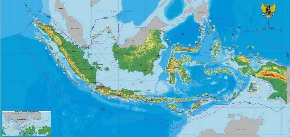 Peta Indonesia Diperbarui Perbedaannya Gambar Bali Jelas