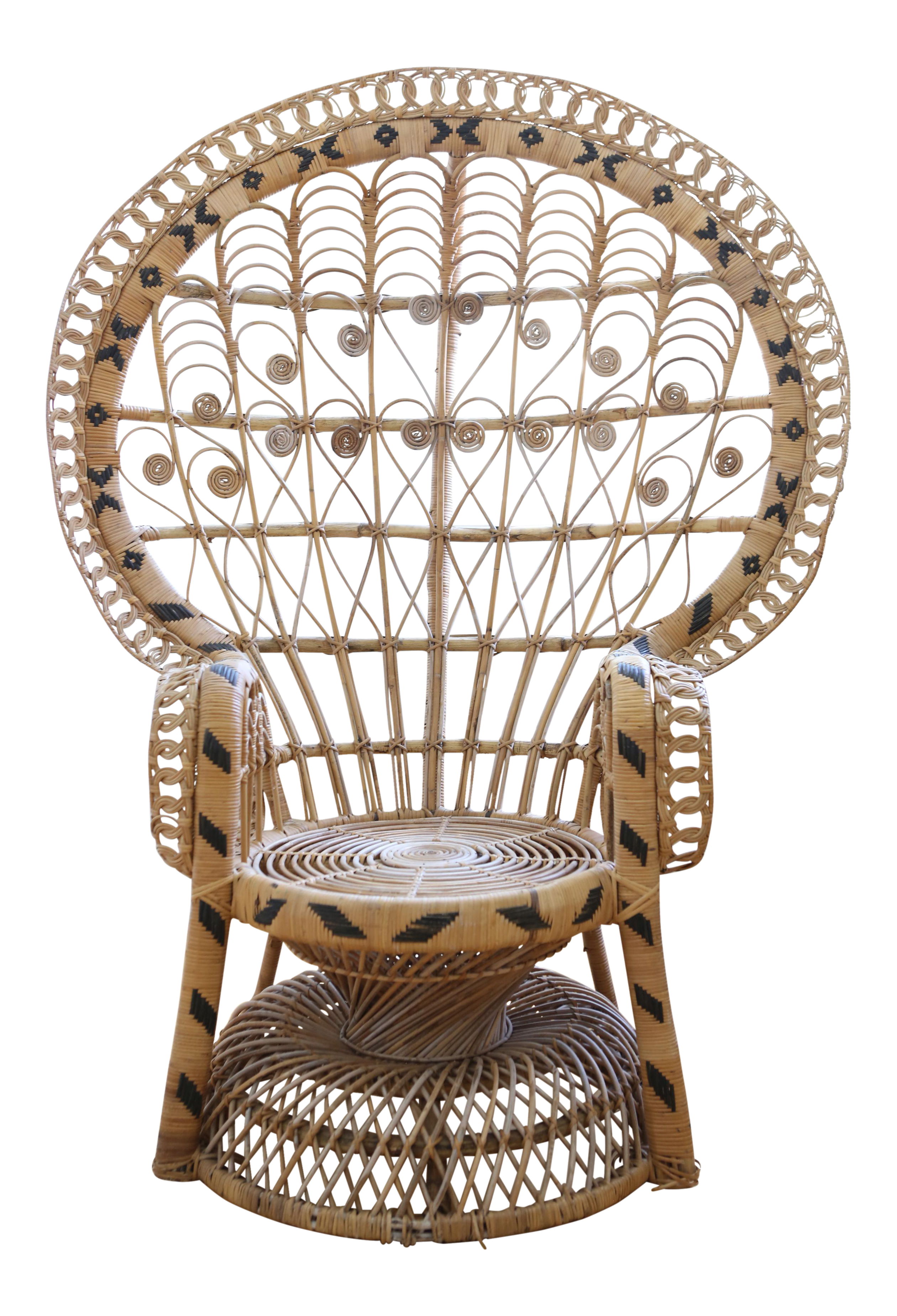 Vintage Rattan And Wicker Peacock Chair Wicker Peacock Chair