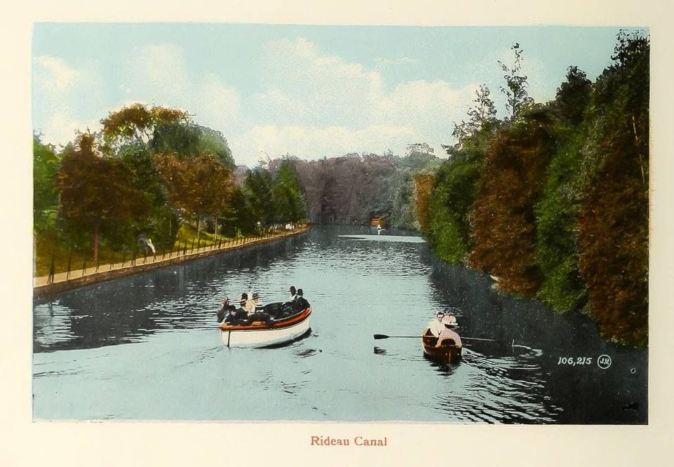 vintage postcard boating on the rideau canal ottawa canada my canada pinterest. Black Bedroom Furniture Sets. Home Design Ideas