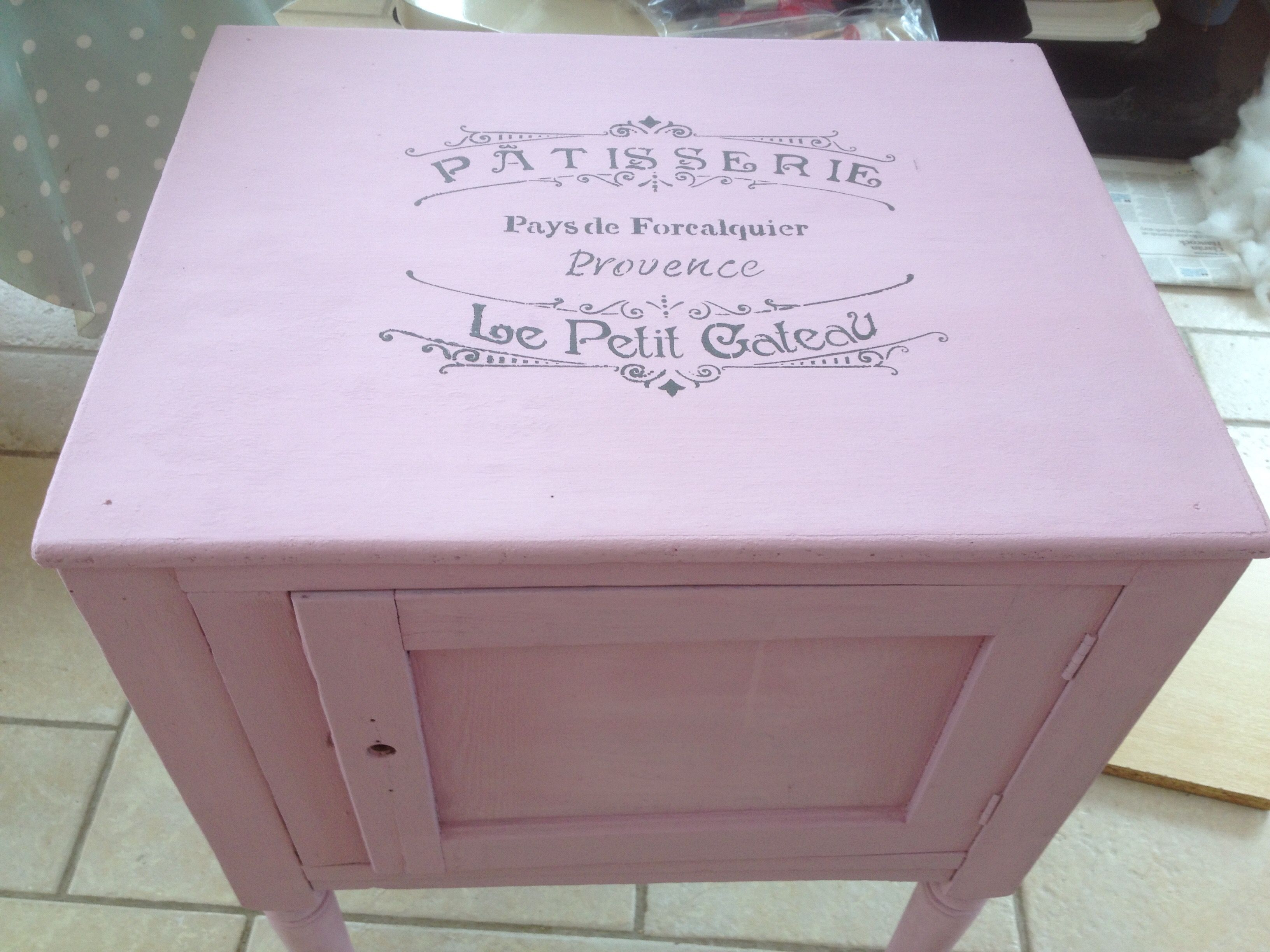 After Annie Sloan chalk paint.