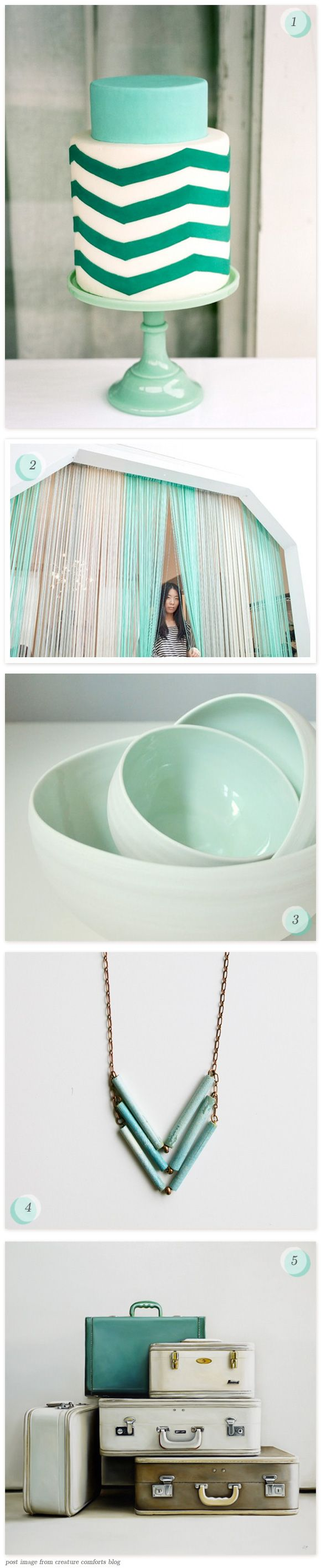 teal, future trend for turquoise in a pale mint and dark teal. #colortrend, #decorating