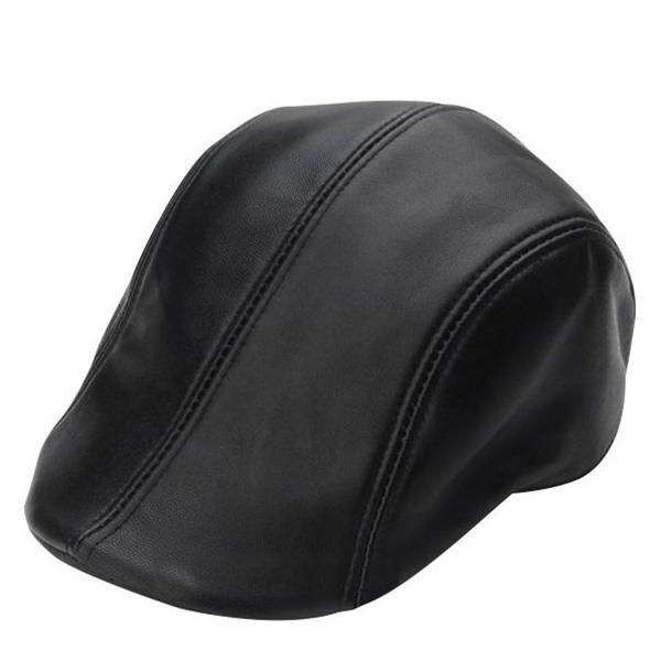 66b4451e42219 Men s Black Sheepskin Beret Cabbie Hat Winter Warm Flat Forward Caps  Adjustable  Winter  Beret  Flat  Forward  Caps  Warm  Black  Hat   Adjustable  Cabbie ...