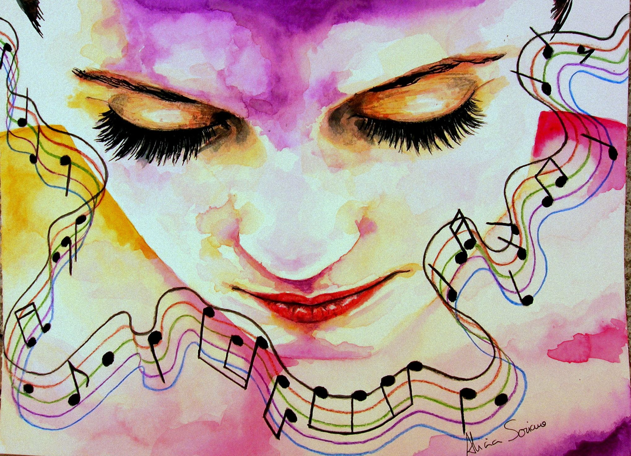 Abstract Music Notes Art: Pics For > Abstract Music Notes Paintings