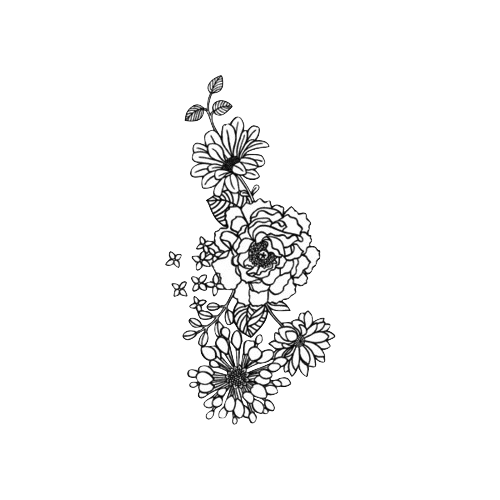 Tattoo Png Aesthetic Hd: Tumblr Flower, Flower Outline Tattoo