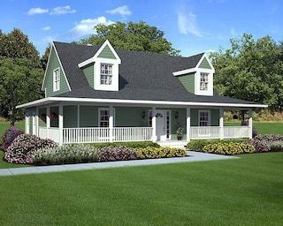 G10785 The Farmhouse At Menards G10785 The Farmhouse Country Style House Plans Porch House Plans Ranch Style House Plans