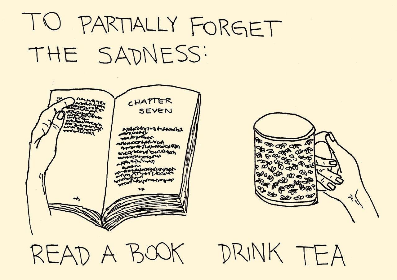 Drink tea & read a book