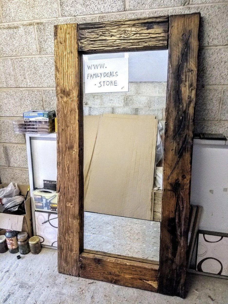 Gorgeous Full Length Reclaimed Wood Frame Floor Mirror Rustic Floor Mirrors Reclaimed Wood Mirror Rustic Flooring