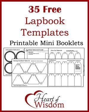 35 Free Lapbook Templates in one PDF Download Printable Freebie ...