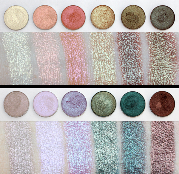 12 New Duochrome Eyeshadows From Makeupgeek My Eyeshadow Consultant Makeup Geek Duochrome Eyeshadow Makeup Geek Swatches