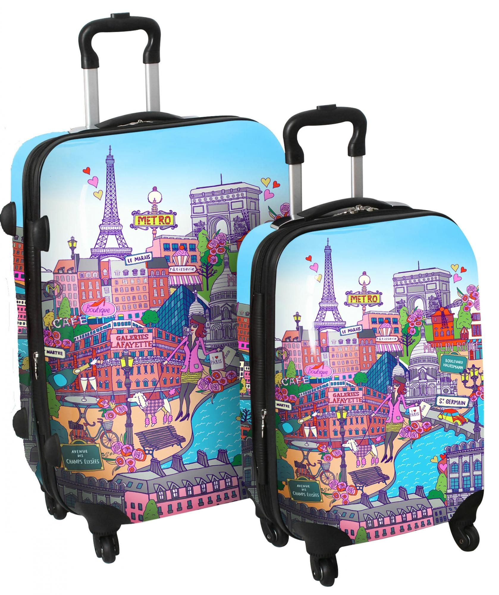 International Traveller Paris City 2 Piece Spinner Set / Luggage ...