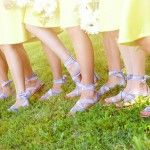 Lilac Sandals for Bridesmaids